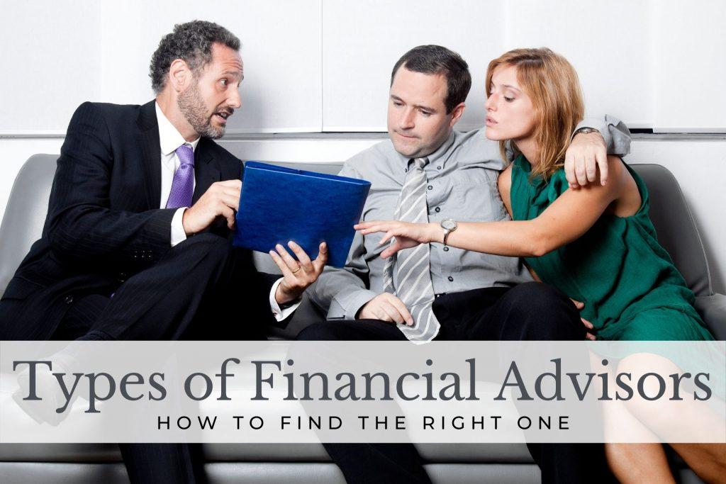 types of financial advisors